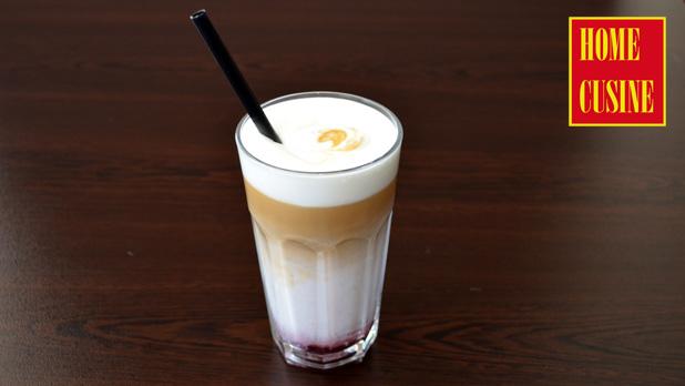 коктейл с кафе и малини