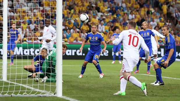 Уейн Рууни се завърна с гол в състава на Англия за победата с 1:0 над Украйна, която изхвърли домакините от Евро 2012