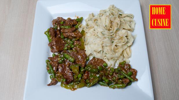 телешко със зеленчуци и прясна паста