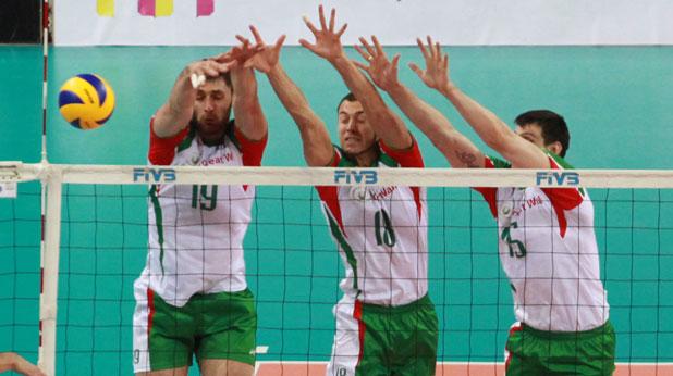 България, волейбол, блокада