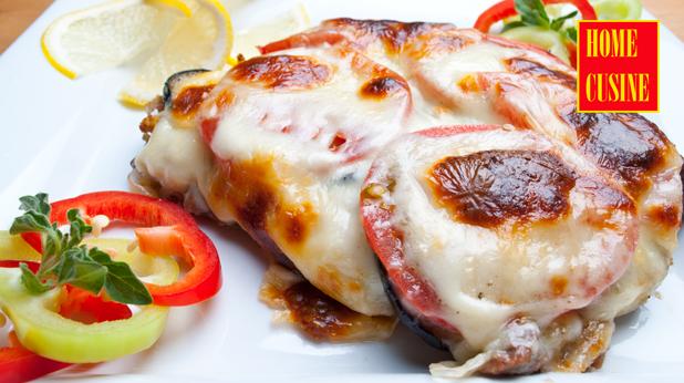 телешко с хляб, зеленчуци и моцарела