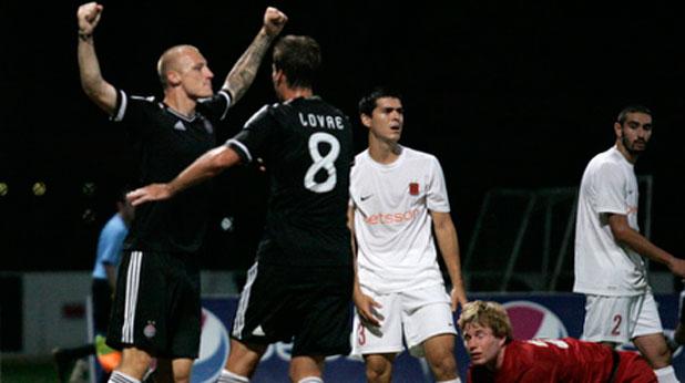 Иван Иванов се разписа за победата на Партизан като гост на Валета с 4:1 в първи мач от Втори квалификационен кръг на Шампионската лига на 17 юли 2012