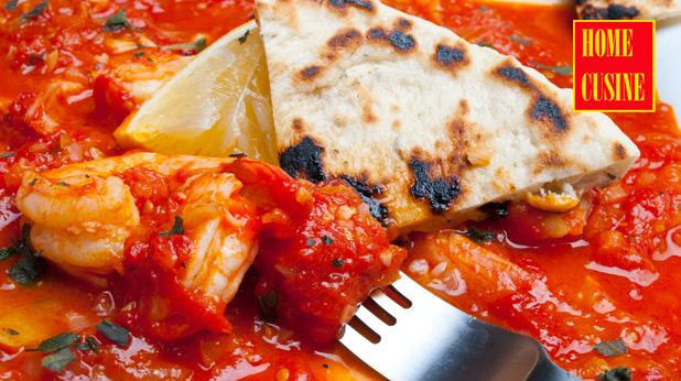 скариди с доматен сос