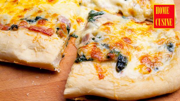 пица със спанак и бекон