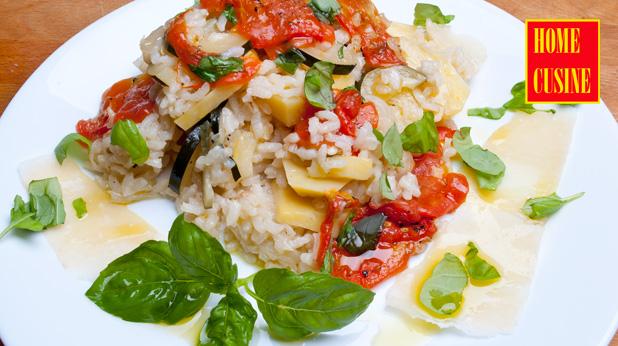 Ориз със зеленчуци на фурна