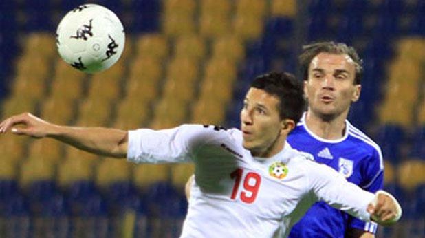 Резервата Илиян Мицански отбеляза гола в контролата България - Кипър (1:0) на 15 август 2012
