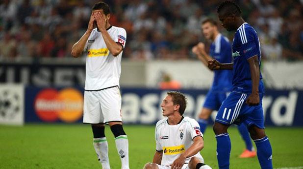 Борусия (Мьонхенгладбах) - Динамо (Киев) 1:3 в първи плейоф за Шампионската лига на 21 август 2012