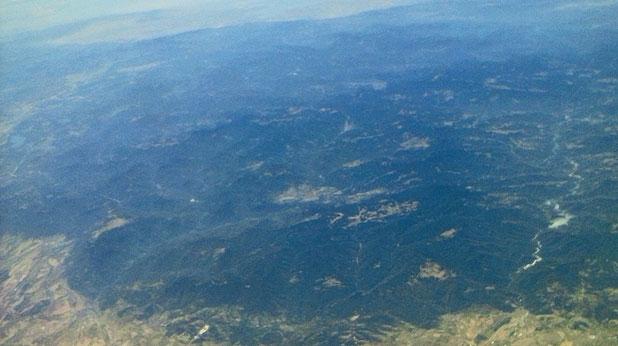 Поглед до Бяло море от 30 км. височина