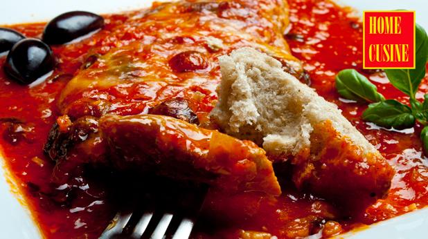свински шницели в лют доманен сос