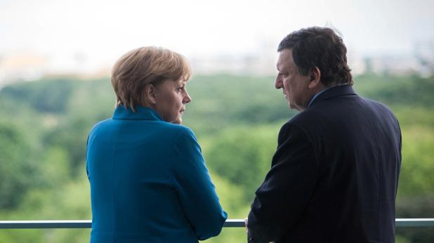 Ангела Меркел и Жоже Мануел Барозу