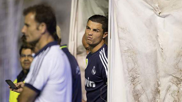 съдия, Кристиано Роналдо, гримаса, Реал (Мадрид)