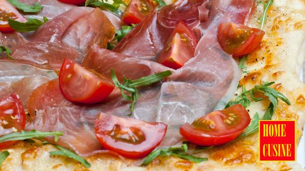 бърза пица с прощуто и рукола