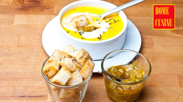 крем супа от червена леща и моркови