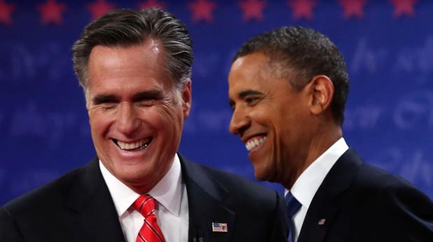 Барак Обама и Мит Ромни