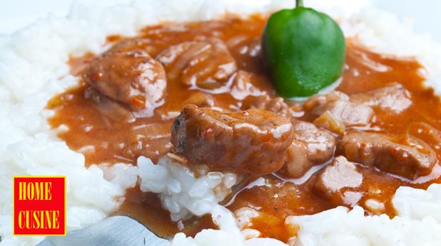 винен кебап с бял ориз