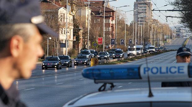 Кортежът на Путин, София - 2010 г.