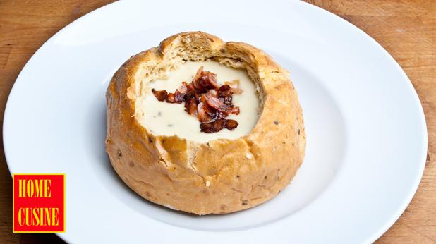 чешка крем супа с картофи и кисело зеле
