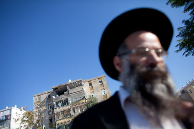 Поразена сграда в Израел