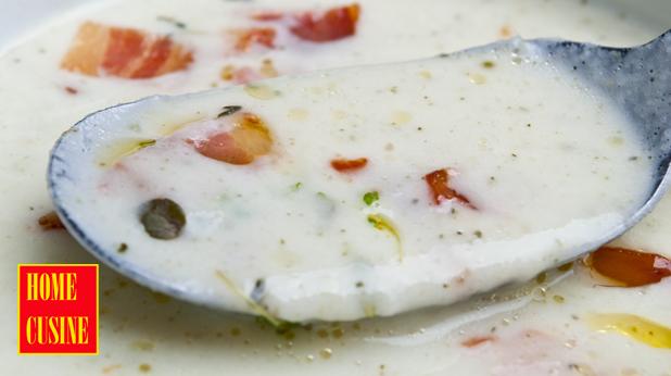 супа с целина и хрупкав бекон