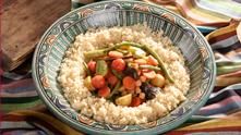 Кус кус с осем зеленчука