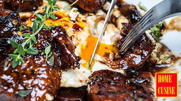 свинско бонфиле в медено-балсамов сос