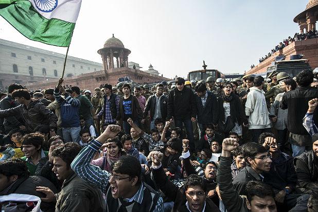 Протест в Делхи