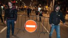 протест - улицата забранена