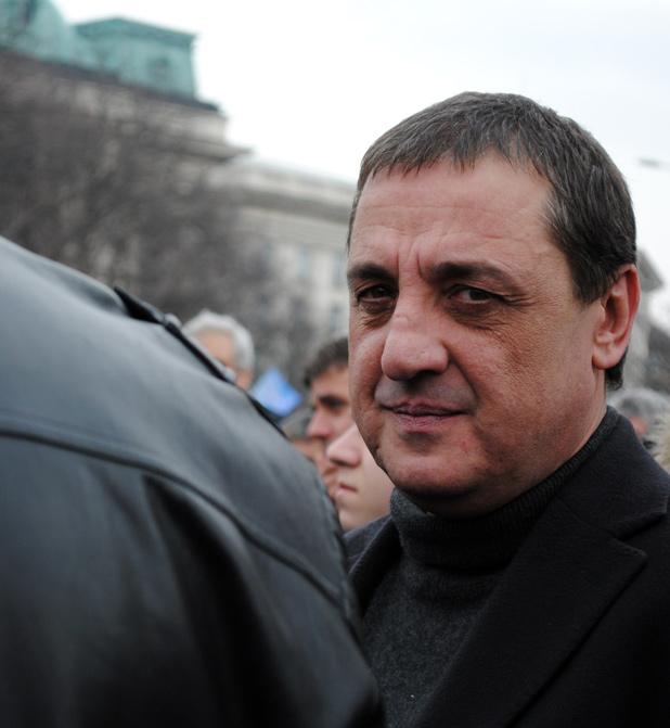 Един Титан на митинг в защита на Борисов