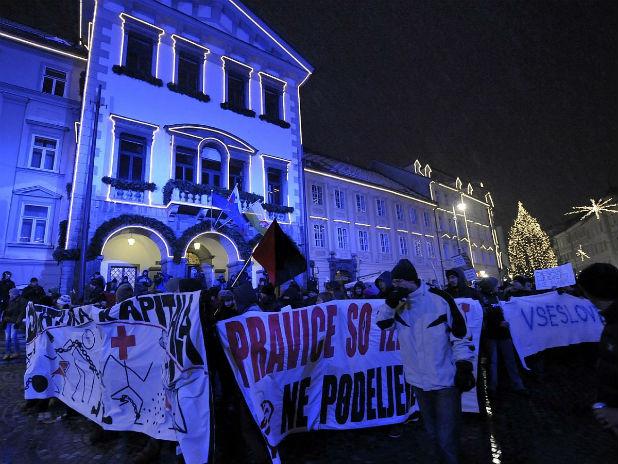 Протест в Словения