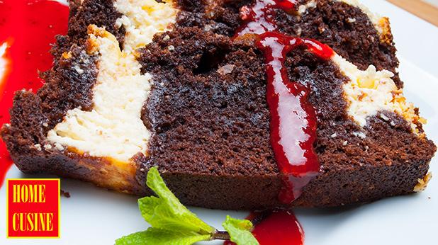 шоколадов кекс с рикота с ягодов сос
