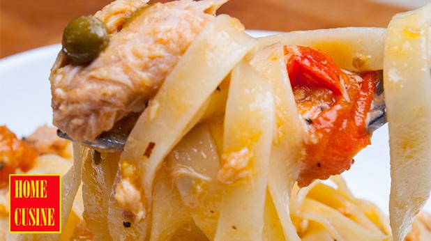 талиателе с риба тон и каперси