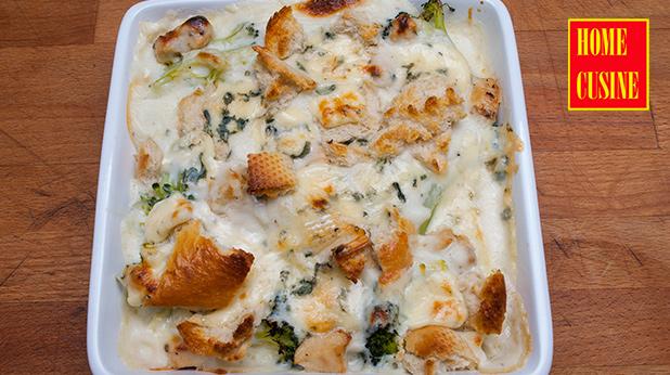 броколи с пиле и синьо сирене