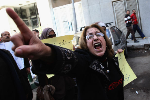 Протестираща жена