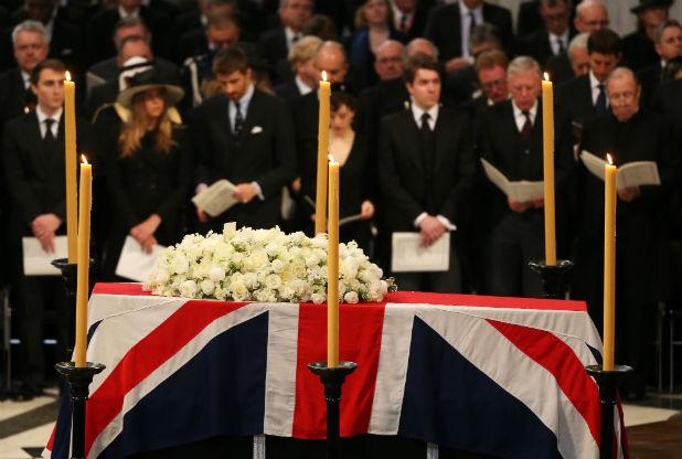 погребението на тачър
