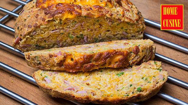 хляб с шунка и сирене чедър