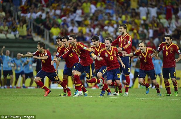 испания печели с дузпи срещу италия - конфедерации 2013