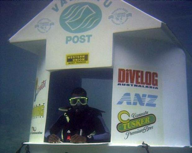 underwater post