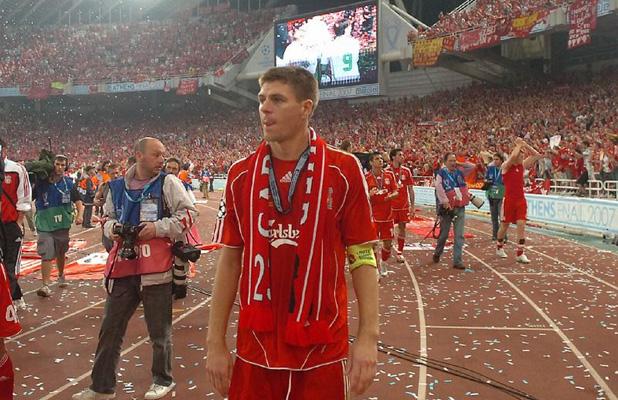 стивън джерард, ливърпул - милан, финал в шампионската лига 2007