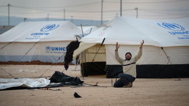 Бежански лагер със сирийци