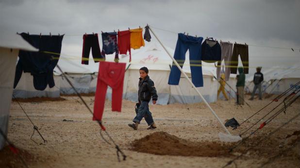 Дете в сирийски бежански лагер