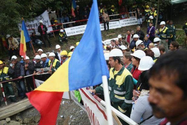 Протест в Румъния