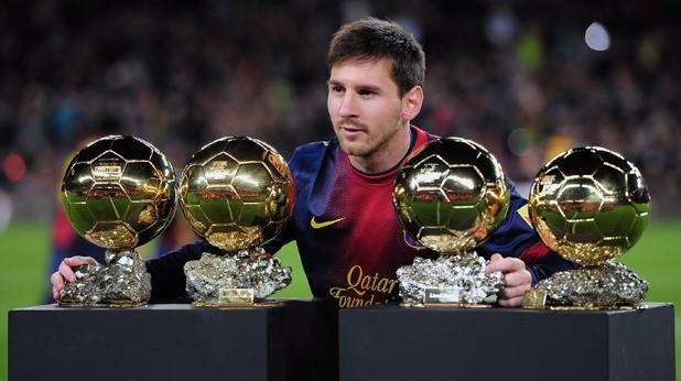 """Лео Меси с четирите си """"Златни топки"""""""