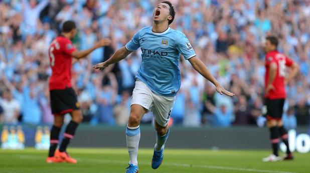 Самир Насри, четвърти гол за Манчестър Сити срещу Юнайтед