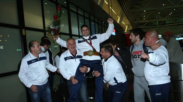 Посрещане на световния шампион Иво Ангелов