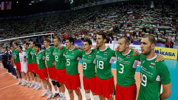 Волейболистите преди мача с Полша