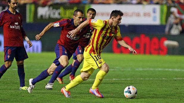Меси отново в игра, Осасуна - Барса 0:0