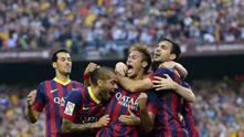 Неймар след първия гол, Барселона - Реал 2:1