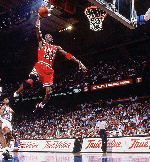 Джордан лети по неподражаем начин към коша