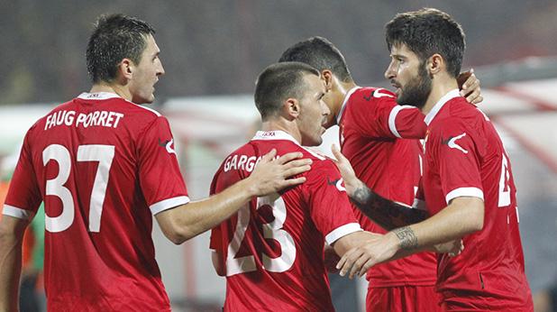 цска радост след 1-0 на бруно морейра срещу Берое - октомври 2013