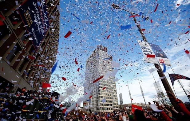 Бостън Ред Сокс с титлата, празненства